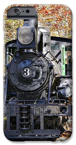 Steam Locomotive on Display iPhone Case by Susan Leggett