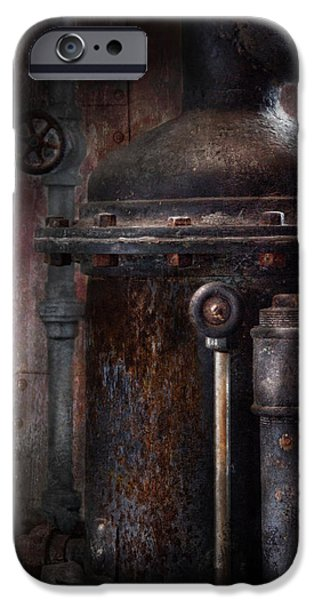 Steampunk - Handling Pressure  iPhone Case by Mike Savad