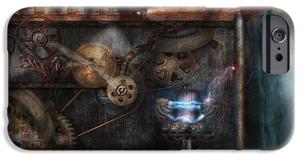 Mechanism iPhone Cases - Steampunk - Industrial Society iPhone Case by Mike Savad