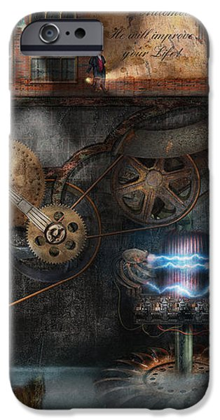 Steampunk - Industrial Society iPhone Case by Mike Savad