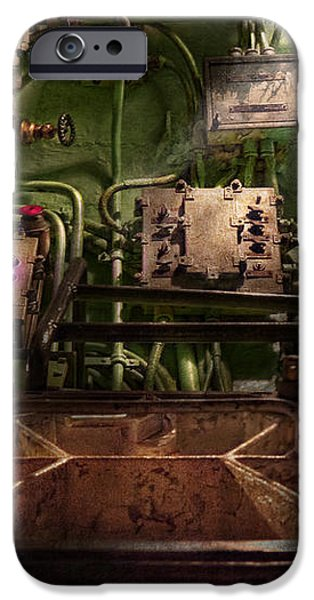 Steampunk - Naval - This is where I do my job iPhone Case by Mike Savad