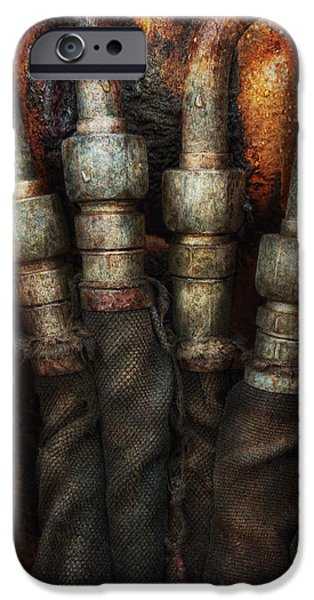 Steampunk - Pipes iPhone Case by Mike Savad