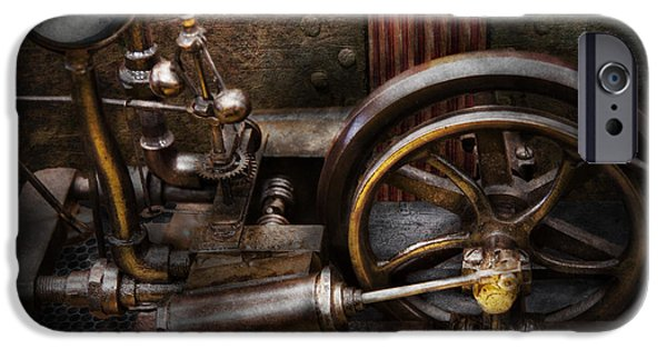 Mechanism iPhone Cases - Steampunk - The Contraption iPhone Case by Mike Savad