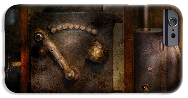 Mechanism iPhone Cases - Steampunk - The Control Room  iPhone Case by Mike Savad