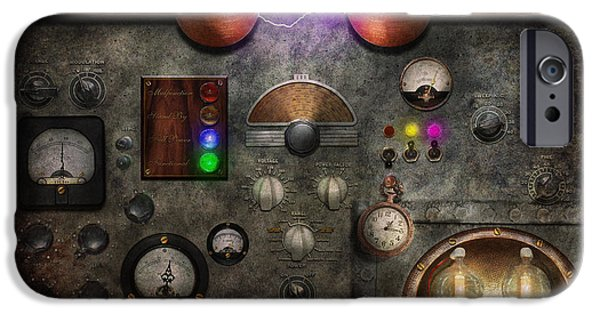 Mechanism iPhone Cases - Steampunk - The Modulator iPhone Case by Mike Savad