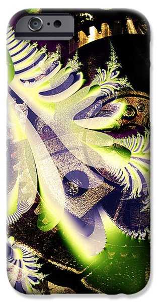 Steampunk Abstract Fractal . S2 iPhone Case by Wingsdomain Art and Photography