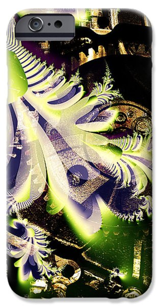 Steampunk Abstract Fractal . Square . S2 iPhone Case by Wingsdomain Art and Photography