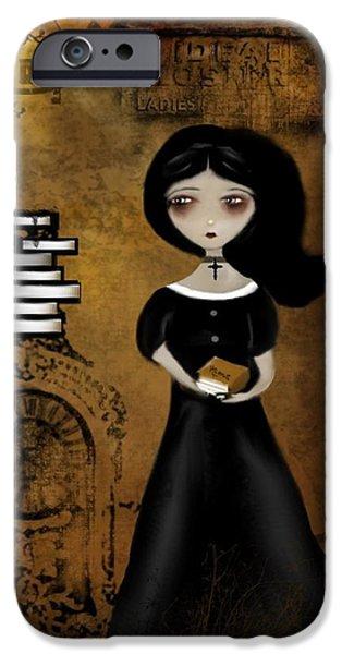 Steampunk Bibliophile iPhone Case by Charlene Zatloukal