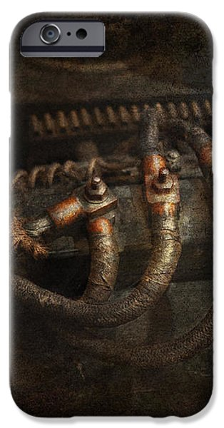 Steampunk - Electrical - Frayed Connections iPhone Case by Mike Savad