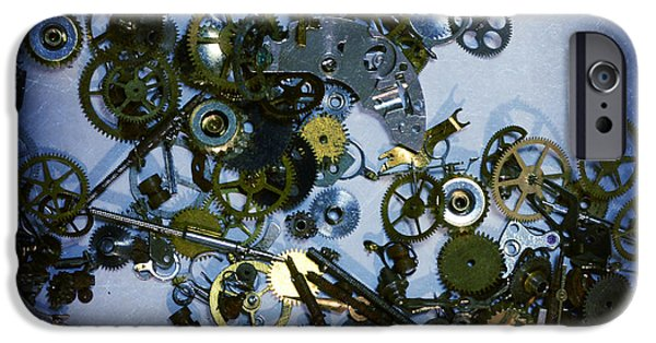Watch Parts iPhone Cases - Steampunk Gears - Time Destroyed iPhone Case by Paul Ward