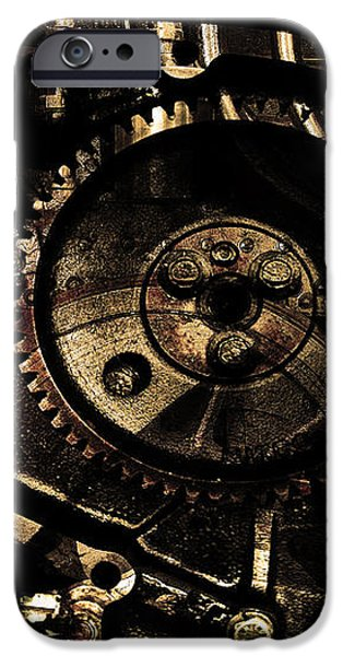 Steampunk Personal Decompression Chamber Model 39875DA78803 Fully Accessorized . Gold Plated Luxury  iPhone Case by Wingsdomain Art and Photography