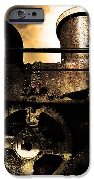 Steampunk Railway Transcontinental Line . Where Steam Is Still King . Gold Version iPhone Case by Wingsdomain Art and Photography