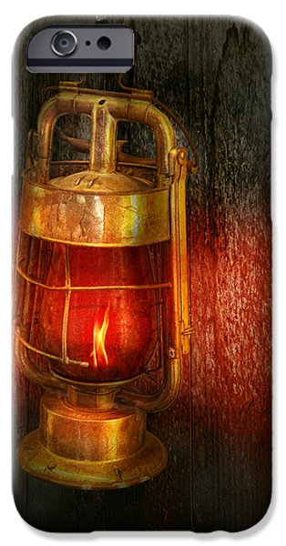 Steampunk - Red light district iPhone Case by Mike Savad