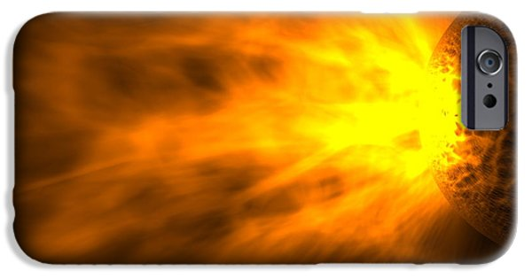 Astrophysics iPhone Cases - Stellar Flare iPhone Case by Roger Harris