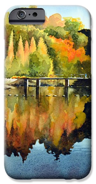 Stepping Stones Bolton Abbey iPhone Case by Paul Dene Marlor