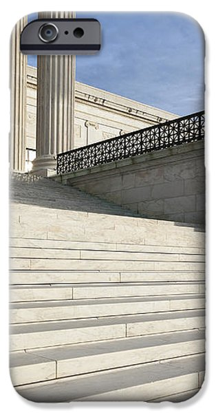 Steps and Statue of the Supreme Court Building iPhone Case by Roberto Westbrook