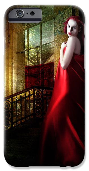 Steps in Red iPhone Case by Karen K