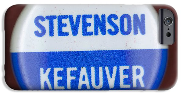 Ewing iPhone Cases - Stevenson Campaign Button iPhone Case by Granger