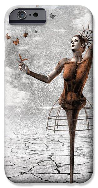 Surrealism Digital Art iPhone Cases - Still Believe iPhone Case by Photodream Art
