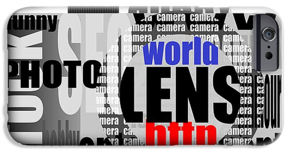Caption iPhone Cases - Still Camera From Words iPhone Case by Michal Boubin