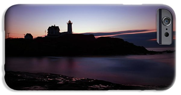 Cape Neddick Lighthouse iPhone Cases - Still Dawn Cape Neddick iPhone Case by Rick Berk