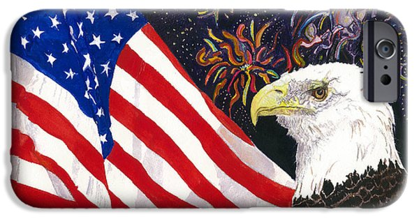 Best Sellers -  - 4th July Mixed Media iPhone Cases - Still Free iPhone Case by Joy Braverman