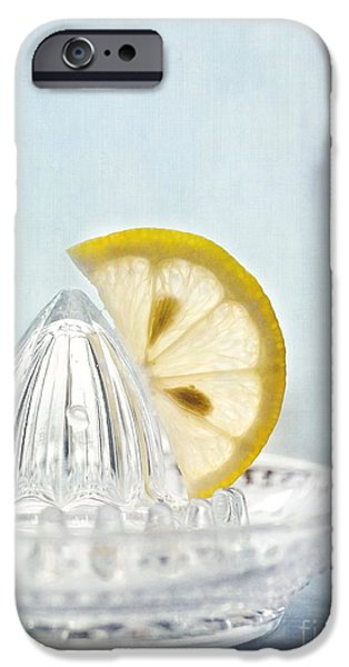 Still Life Photographs iPhone Cases - Still Life With A Half Slice Of Lemon iPhone Case by Priska Wettstein