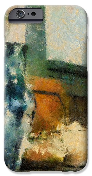 Still Life With Blue Jug iPhone Case by Lois Bryan
