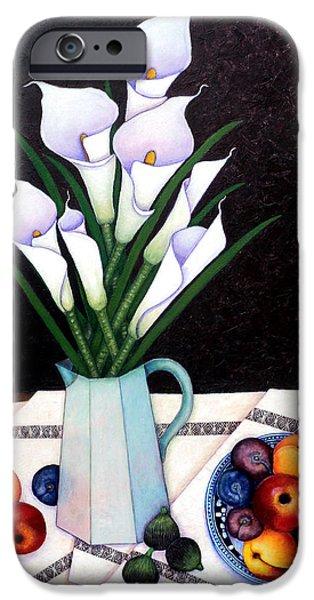 Alcatraz iPhone Cases - Still life with Callas iPhone Case by Madalena Lobao-Tello