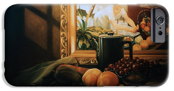 Old Pitcher Paintings iPhone Cases - Still Life with Hopper iPhone Case by Patrick Anthony Pierson