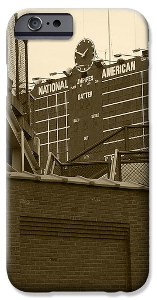 Wrigley Field iPhone Cases - Still undefeated iPhone Case by David Bearden