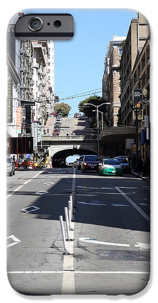 Stockton Street Tunnel in San Francisco iPhone Case by Wingsdomain Art and Photography