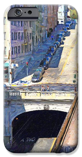 Stockton iPhone Cases - Stockton Street Tunnel Midday Late Summer in San Francisco iPhone Case by Wingsdomain Art and Photography