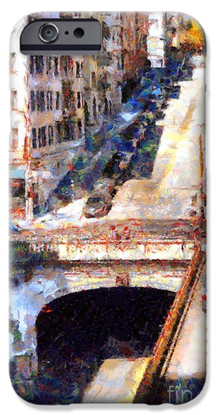 Stockton Street Tunnel San Francisco . 7D7499 iPhone Case by Wingsdomain Art and Photography