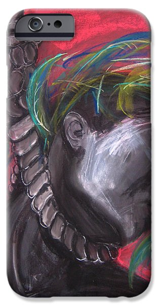 Slaves Pastels iPhone Cases - Stolen Resource iPhone Case by Gabrielle Wilson-Sealy