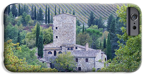 Chianti Landscape iPhone Cases - Stone Farmhouse near Montefioralle iPhone Case by Jeremy Woodhouse