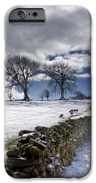 Stone Fence, Weardale, County Durham iPhone Case by John Short