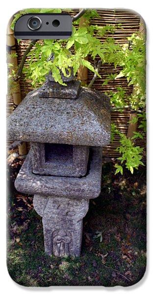 Bamboo Fence iPhone Cases - Stone Lantern iPhone Case by Nina Fosdick