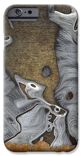 Stone Men 28b - Celebration iPhone Case by Variance Collections