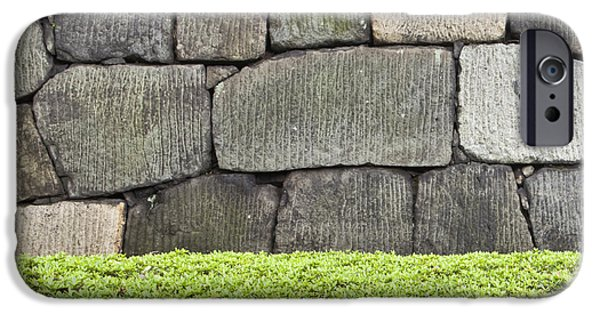 Built Structure iPhone Cases - Stone Wall And Hedge Imperial Palace iPhone Case by Bryan Mullennix