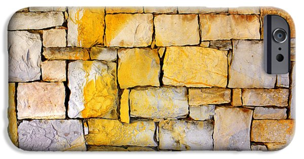 Red Rock iPhone Cases - Stone Wall iPhone Case by Carlos Caetano