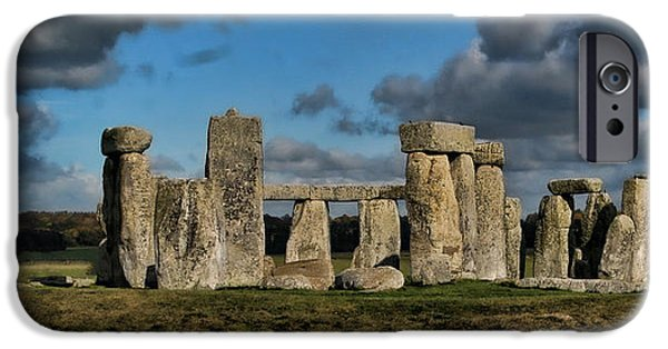Archaeologists iPhone Cases - Stonehenge iPhone Case by Heather Applegate