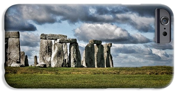 Archaeologists iPhone Cases - Stonehenge Landscape iPhone Case by Heather Applegate