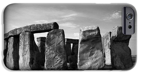 World No. 1 iPhone Cases - Stonehenge No 1 BW iPhone Case by Kamil Swiatek