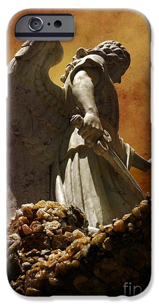 Angel. Spiritual iPhone Cases - STOP in the name of God iPhone Case by Susanne Van Hulst