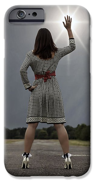 60s Hair iPhone Cases - Stop The Sun iPhone Case by Joana Kruse
