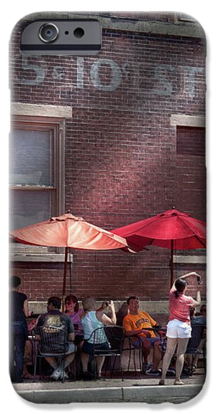 Storefront - Bastile Day in Frenchtown iPhone Case by Mike Savad