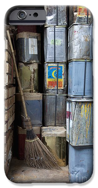 Wooden Crate iPhone Cases - Storeroom Area iPhone Case by Don Mason