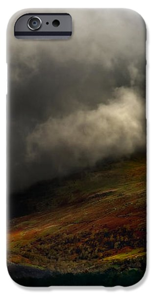 storm brewing over hawkshead iPhone Case by Meirion Matthias