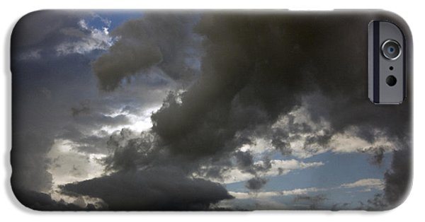 Best Sellers -  - Turbulent Skies iPhone Cases - Storm clouds and blue sky iPhone Case by Christopher Purcell